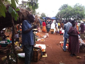 Market outside Masindi