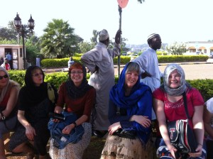 Rayanne, Karen, Adele, Deborah and Lacey at Gaddafi Mosque