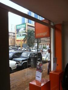 Orange store in Kampala