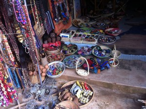 Shop at Ugandan craft market